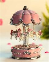 HoneyGifts Luxury Carousel Music Box, Flower