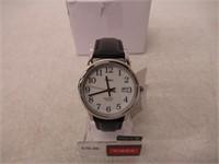 Timex Men's t2H281 Easy Reader Black Leather Strap