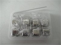 Whiskey Stones Set of 8 Stainless Steel Reusable