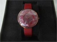 So & Co New York Women's Red Patterned Watch