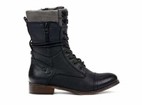 SEATTLE Women Black Combat Boots - Perfect for
