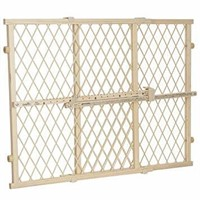 Evenflo Position and Lock Wood Gate, Wood Tan