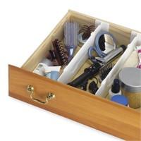 (3) Whitmor Adjustable Drawer Dividers - Drawer
