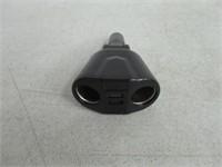 Tarbs 2 Sockets Cigarette Lighter Adapter, (120W