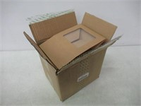 Brown Kraft Paper 4 Cavity Cupcake Box with Insert