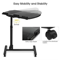 LANGRIA Laptop Table Mobile Desk Cart Adjustable