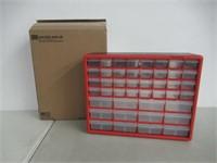 Akro-Mils 10144REDBLK 44-Drawer Hardware & Craft
