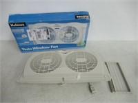 Holmes Dual Blade Twin Window Fan, White