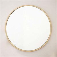Take Me Home Furniture Round Mirror in Gold 32'' H