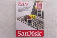 SanDisk 128GB Ultra Fit USB 3.1 Flash Drive -