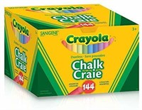"""As Is"" Crayola 144 Coloured Sanigene Dustless"