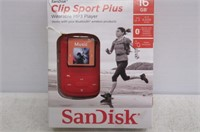 SanDisk Clip Sport Plus 16GB MP3 Player, Red
