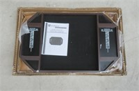 BARRINGTON Bristle Dartboard Cabinet and Wall