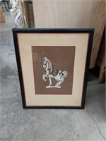 Bundle small horse painting and poster