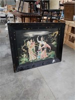 Large Asian painting of 3 women