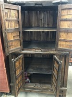 Bamboo tiki style cabinet
