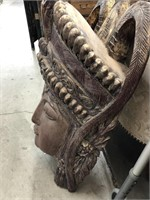 Large wooden carved buddha