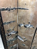 Asian 4 panel carved screen