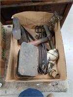 Box  Of vintage metal tools