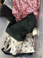 Bin of clothes/sheets