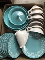 Box of plates and cups