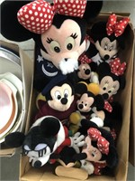 Box of Mickey and Minnie Mouse stuffed animals
