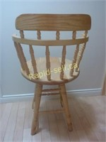 Pair of Solid Maple Counter Stools