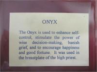Onyx, Moonstone, Lapis Lazuli