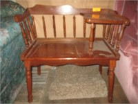 Chair, Bench with Side Table