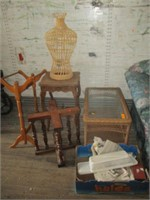 2) Tables, Blanket Rack, Stand and More