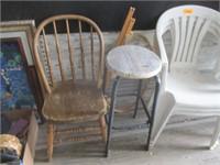 Chairs, Stool, Bucket
