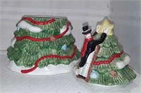 Holiday Cookie Jar And Cookie Cutters