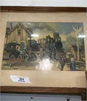 Framed Railroad Art