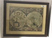 Early World Framed Map