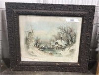 Framed Winter Painting