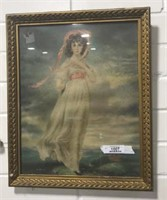 Vintage Framed Print Of Pinkie
