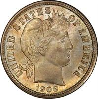 10C 1908 PCGS MS67 CAC