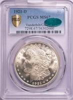 $1 1921-D MORGAN PCGS MS67 CAC