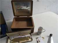 Watch Bands, Knives, Jewelry Boxes, Watches