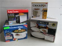 Crock-Pot, Toaster, Corelle Dishes, Slow Cooker