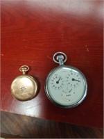 Bundle gold plated watch w/ diamond, chronom