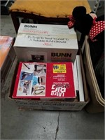 Box of Bunn coffee Brewer and vacuum