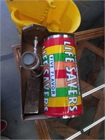 Box of tin can,telescope,plated box
