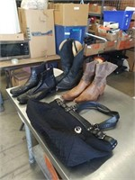 Box with boots,purse