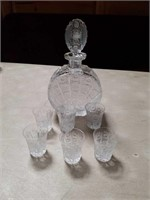 Crystal whisky set Seven pieces