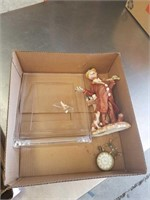 Box with wedgewood picture frame etc