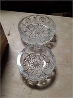 Pair of crystal pieces