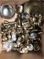 Box of brass pieces