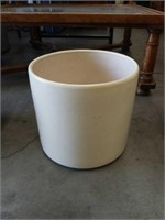White mid century modern flower pot