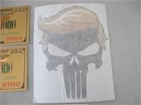 3) Donald Trump Notes, Trump Stickers, Iron On